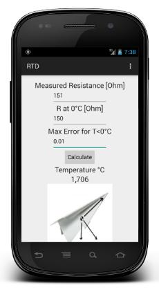 Android Resistance Temperature Detectors