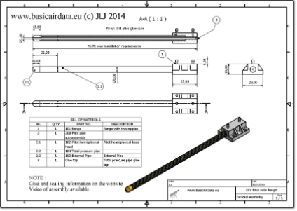 Cut view section pitot plans